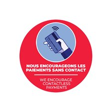 floor stickers -contacless payment
