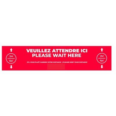floor stickers -please wait here
