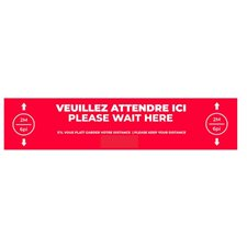floor stickers -please wait here