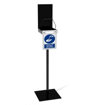 Floor stand for hand sanitizer dispenser